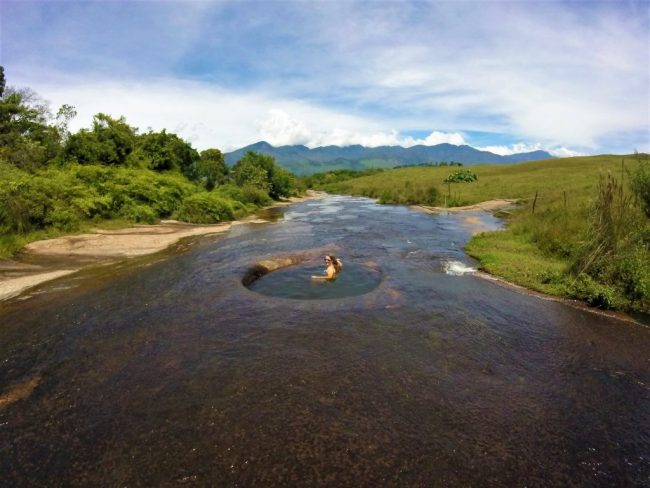 Taking a Dip at Las Gachas in Guadalupe - Enjoying Solo Travel in Colombia!