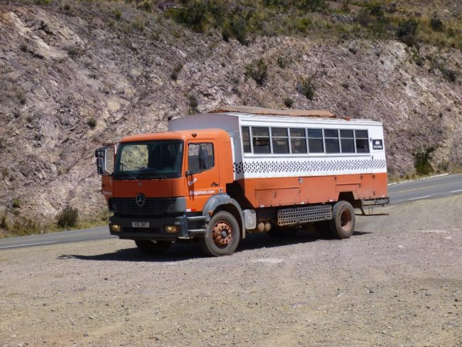 Our Overland Truck for the group tour in Peru