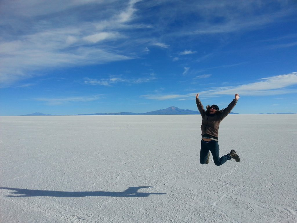 Jumping for Joy in Bolivia - Travelling Alone for the First Time