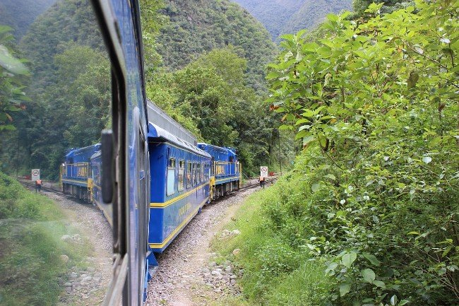 The train from Cusco to Machu Picchu