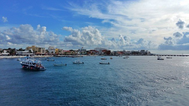 Arriving in Cozumel - Great for Diving in Mexico