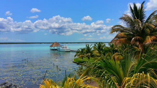 The View from Yak Lake House over Laguna Bacalar